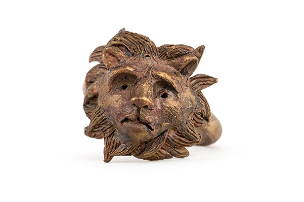 Victorian Lion Ring Bronze
